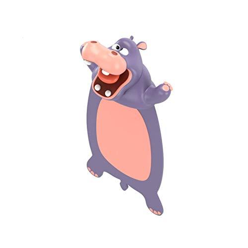 Zoomarlous 3D Cartoon Lesezeichen, Verrücktes Lesezeichen, Neuartige Tierische Lesezeichen steigern das Leseinteresse und eignen Sich für Schüler und Kinder, und Erwachsene(H-Nilpferd)(Ca. 9cm)
