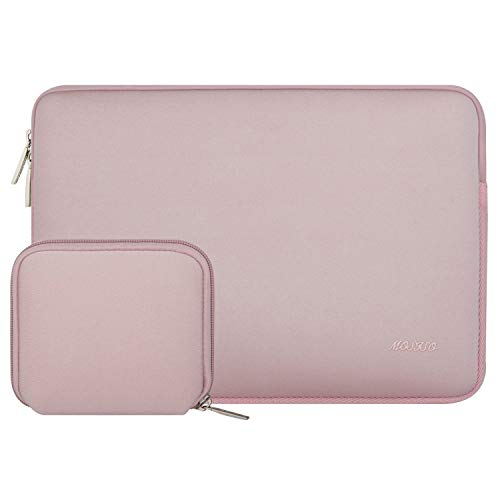MOSISO Tablet Sleeve Hülle Kompatibel mit 9,7-11 Zoll iPad Pro, iPad 7 10,2 2019, iPad Air 3 10,5, iPad Pro 10,5, Surface Go 2018, iPad 3/4/5/6, Wasserabweisend Neopren Tasche mit Klein Fall,Baby Rosa