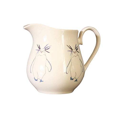 Large cream ceramic Penguin Jug 14cm and 700ml with Rockhopper Penguin from Cluck Cluck