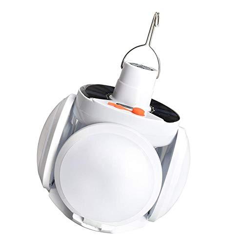 JBNS 300W Wasserdicht 90 ° Falten Solar-Notfall-USB aufladbare Birnen-Licht-Camping für das Wandern super Hellen Solar-Birnen-Lampe Stromausfall Notfall-Lampe (weiß)