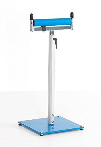Materialstütze / Rollenbock stufenlos höhenverstellbar mit 300 mm breiter Kunststoffrolle bis 150 kg