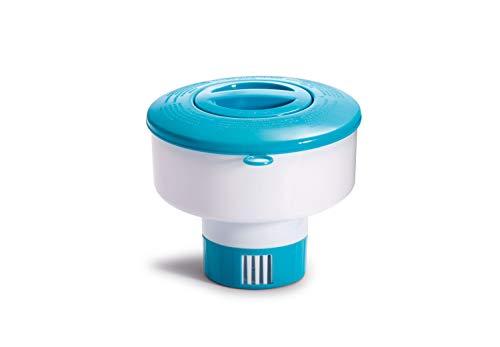 Intex 29041EP 17,8 cm schwimmender Chemikalienspender für Pools weiß/blau