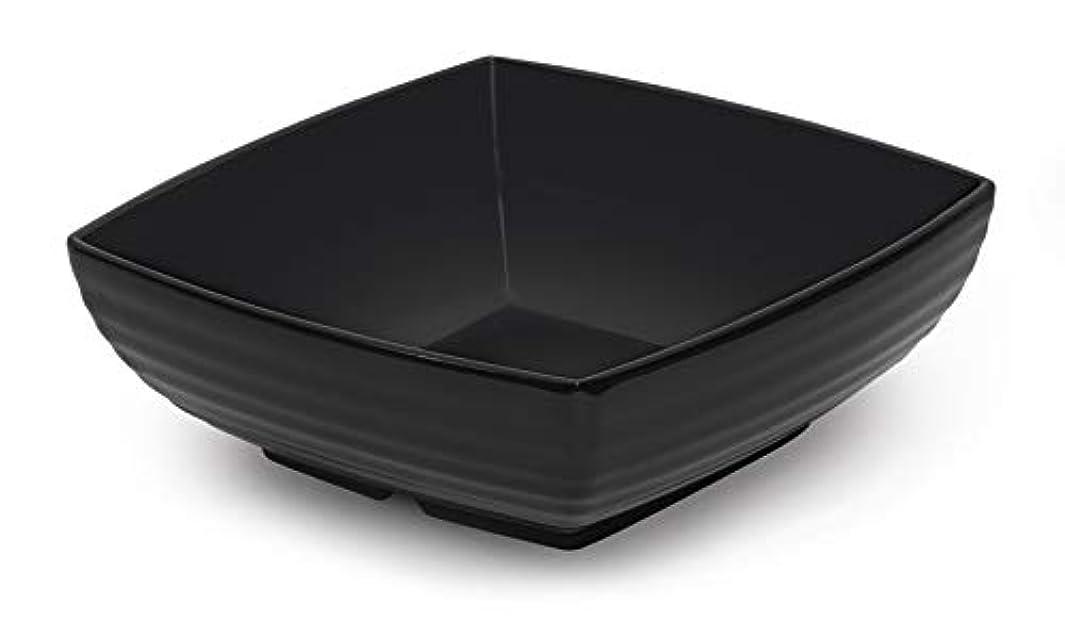 G.E.T. Enterprises Black 2.5 qt. Square Bowl, Break Resistant Dishwasher Safe Melamine Plastic, Milano Collection ML-67-BK (Pack of 1)