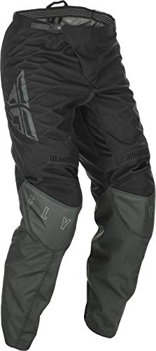 Fly Racing F-16 Motorsports Pants, Performance Apparel for Men, Polyester with Mesh Comfort Liner and Adjustable Waist Belt (Black/Grey) Size 34