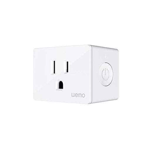Wemo Smart Plug (Simple Setup Smart Outlet for Smart Home, Control Lights and Devices Remotely Works w/Alexa, Google Assistant, Apple HomeKit)(Pack of 1)