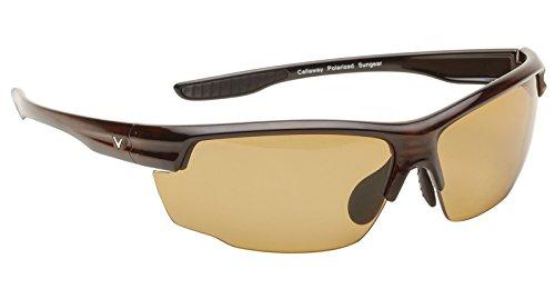 Callaway Sungear Kite - Gafas de sol de golf (montura de plástico), diseño de tortuga, Unisex adulto, C80032, Lente marrón., talla única