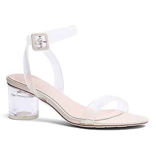 Sandalias de Verano, Zapatos de Cristal Transpirables, Sandalias Transparentes, Mujeres con Tacones...