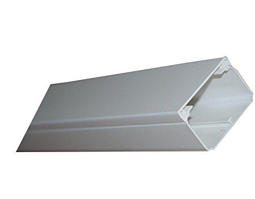Kabelkanal selbstklebend 40x20mm 2,45€/m reinweiß Kunststoffkanal Verdrahtungskanal Leitungskanal selbstklebend mit Deckel PVC