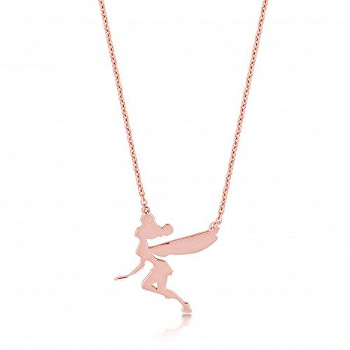 Disney Couture Rose Vergoldet Halskette Fliegende Tinkerbell
