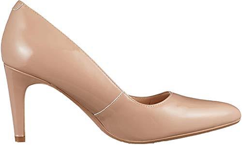 Clarks Laina Rae, Scarpe con Tacco Donna, Beige (Nude Patent-), 38 EU