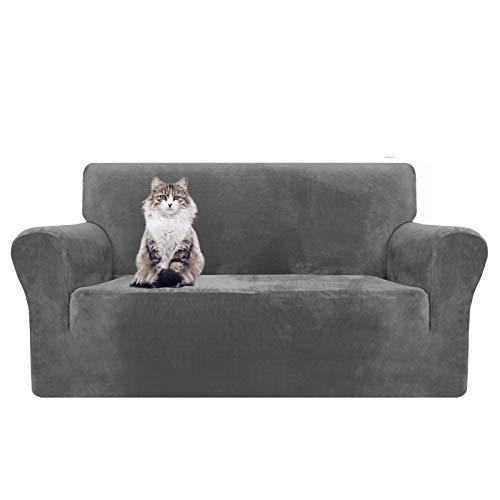 Granbest Copridivano 4 Posti Elasticizzato Impermeabile Divano Protector in Tessuto Super Morbido Fodere Divano Universale per Gatto Cani XL Divano, Cachi