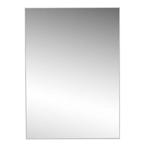 LOLAhome Espejo de Pared Moderno Blanco de poliestireno para salón (50 x 70 cm)