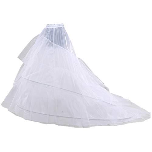 Loywe, Reifrock Petticoat mit Schleppe, aus Satin,Taille Umfang bis 90cm, LW4804