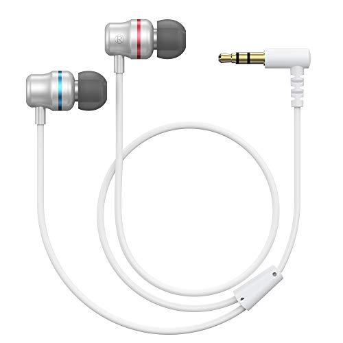 KIWI design Kopfhörer für Oculus Quest 2 / Oculus Rift S VR-Headset Rauschunterdrückung In Ear-Ohrhörer mit Stereo Sound und Maßgeschneiderte Silikon-Ohrhörer-Kappen, Weiß