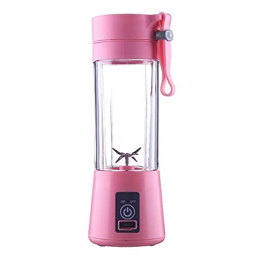 CellLucky Portable Blender USB Mixer Electric Juicer Machine Smoothie Blender Food Processor Personal Lemon Squeezer Orange Juicer(Pink)