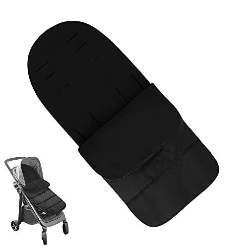 Universal 3 en 1 Saco de Dormir para Cochecito de Bebé,bolsa de Dormir para Bebé, Universal,para Niños Pequeños con Cochecito, Cochecito Anexo,Estera para pies (negro)