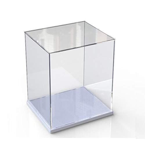 Caja de exhibición de acrílico transparente para la colección de minifiguras Lego, Soporte de exhibición mejorado Caja de exhibición a prueba de polvo para mini figuras de juguete (Blanco,  15x15x30cm)