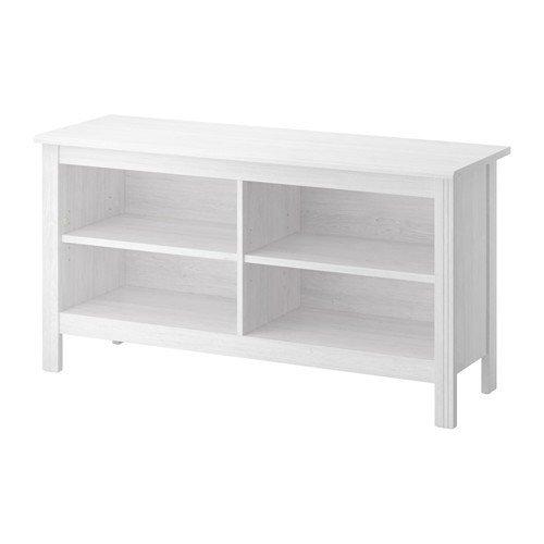 IKEA BRUSALI TV-Banco de blanco; (120 x 62 cm)
