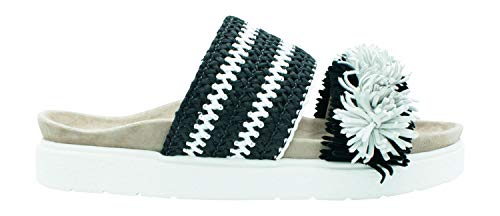 Inuikii Damen Sandale Raffia Striped Black/White - 40