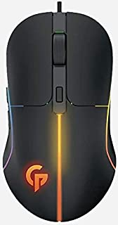 Porodo Gaming Mouse 7D Wired, 6 Breathing RGB, Rubberized Surface, Tracking Speed 28 IPS upto 6400 DPI Macro Software Func...