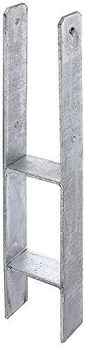 Gartenwelt Riegelsberger Ancre de poteau en H avec marquage CE - Ancrage de poteau - Ancre de poteau - Ancre de carport - Galvanisée à chaud - 101 x 600/6