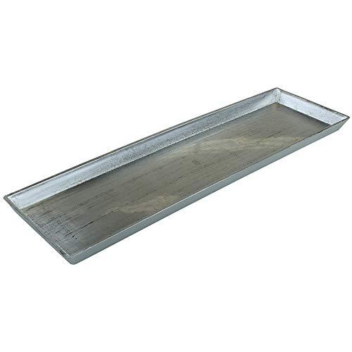 MACOSA GE1360 Deko-Tablett Silber rechteckig | Dekoschale Dekoteller Kunststoffschale Kerzentablett Kerzenteller Servierplatte Tisch-Dekoration Schale