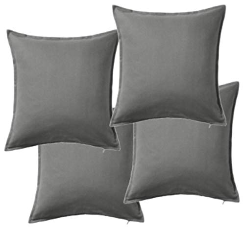 IKEA GURLI 602.811.44 Cushion Covers 50 x 50 centimetre Pack of 4 Grey