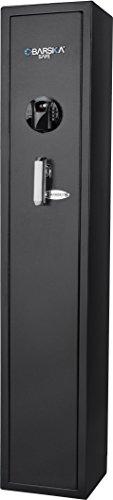BARSKA AX12760 Keypad Biometric Fingerprint 4 Position Rifle Safe 1.83 Cubic Ft