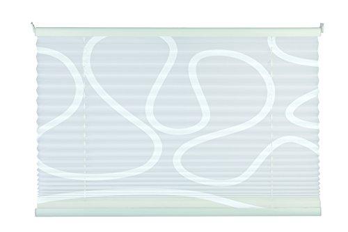 mydeco 65435 Tenda Plissettata con Sistema di Fissaggio Klemmfix, Senza Viti, Bianco, Alluminio Tessuto Poliestere, Bianco/Bianco, 100 x 130 cm