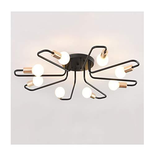 GPZ-iluminación de techo Diseño creativo moderno de la luz de techo, E27 color negro oro del hierro labrado, decoración de la sala de estar Dormitorio Cafe Tienda de ropa Lámparas de techo [Clase ener