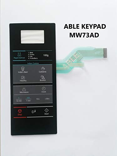 Able MW73AD Microwave Oven Membrane Keypad (Black)