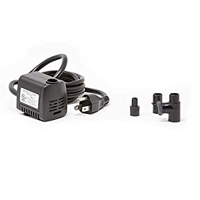 Beckett Corporation 90 GPH Submersible Fountain Pump - Water Pump for Small Indoor/Outdoor Ponds, Fountains, Water Gardens, Aquariums, and Waterfalls, 2.6' Max Fountain Height, Black
