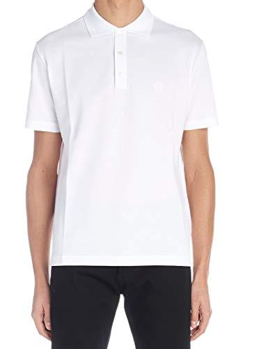 Versace Luxury Fashion Herren A77534A223004A001 Weiss Baumwolle Poloshirt | Jahreszeit Outlet
