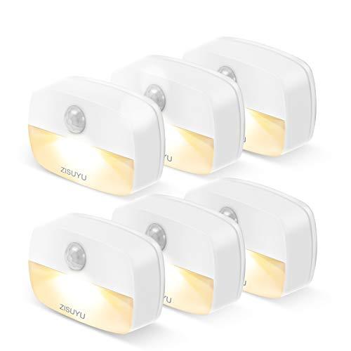 ZISUYU Motion Sensor Light Indoor, Battery-Powered LED Night Light, Stick-Anywhere Nightlight, Motion Sensor Night Lights, Wall Lights, Ideal for Closet, Hallway, Kitchen, Bathroom, Bedroom, Stairs