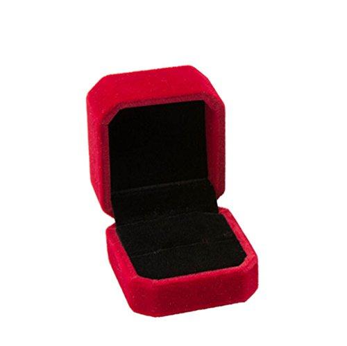 lumanuby 1pieza Ocho rectangular pura Color Boda Anillo Buzón de Velvet joyas cajas para Anillo/pendientes/pendientes 5* 5.5* 4.0cm, joyas cajas Serie, Rose, 5*5.5*4.0cm