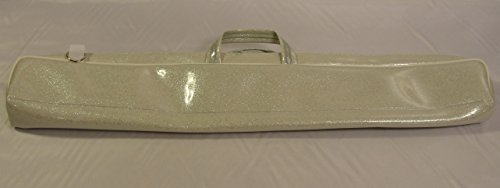 Sparkle Vinyl Twirling Baton Case (White)