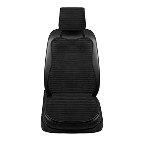 12 V autostoel pluche verwarmingskussen, winterpluche kussen autoverwarming kussen fluweel, autostoelbekleding auto interieur decoratie zwart