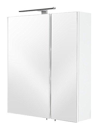 Posseik Spiegelschrank, MDF, Weiß