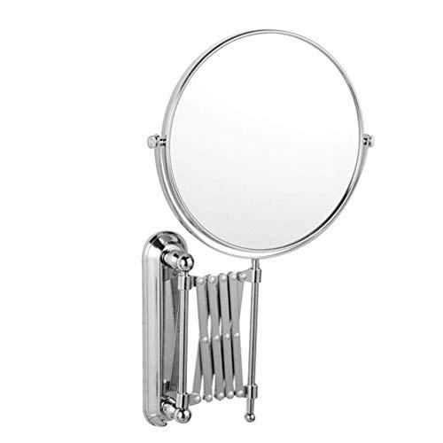 Z-LIANG 6 Pulgadas de Aumento 3X Redonda giratoria Espejo Espejo de Pared Espejo de Maquillaje retráctil Extensible a Doble Cara Espejo de baño Espejo montado en la Pared