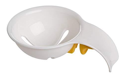 EROSPA® Ei-Trenner Eiweiß-Trenner Eigelb-Trenner Eiersieb - für Kochen und Backen - mit Silikon-Halterung