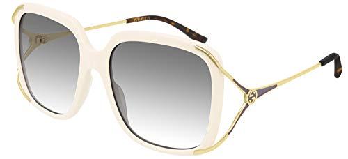 Gucci occhiale da sole GG0647S 004 Avorio grigio taglia 56 mm Donna