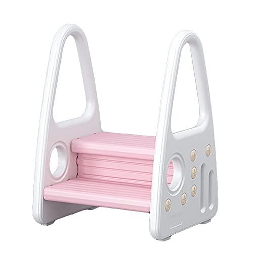 XYW Taburete de Escalada Infantil - Baby Stimbing Step Tablo de baño Baño Aseo Cepillado Paso Taburete Aseo Aseo Antideslizante con pasamanos (Color : #2)