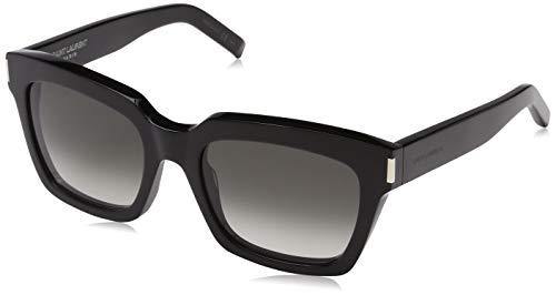 Saint Laurent Damen BOLD 1 001 Sonnenbrille, Schwarz (BLACK/GREY), 54