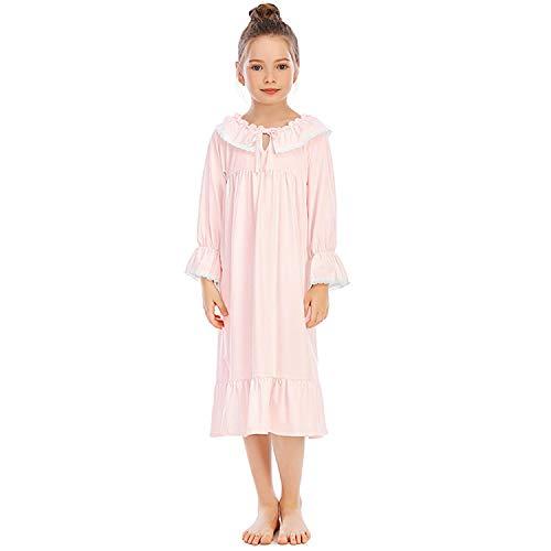 Gaga city Prinzessin Nachthemd Mädchen Altmodische Nachtwäsche Langarm Vintage Schlafanzug Kleider Spitze Nachtkleider