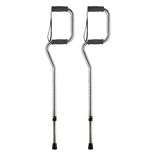QAQ Bastones De Trekking De Aleación De Aluminio Bastón De PVC Telescópico Antideslizante Ayuda para Caminar Ajustable De 9 Velocidades,Silver,OneSize