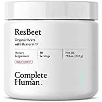 Complete Human ResBeet Organic Beet Root Powder Supplement with Resveratrol