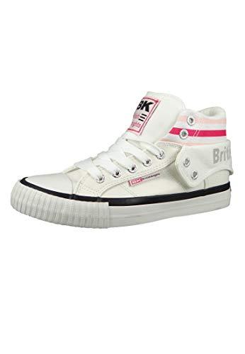 British Knights Damen ROCO Hohe Sneaker, Weiß (White/Fuchsia/Pink 02), 36 EU