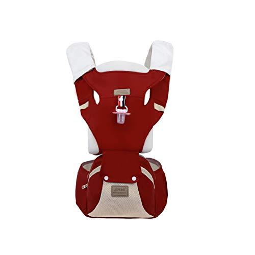 AYBABY Babytrage, sichere Rückentrage für Rückenschmerzen, weiche und Bequeme Tragetücher für Neugeborene und Kleinkinder von 0 bis 4 Jahren,Red