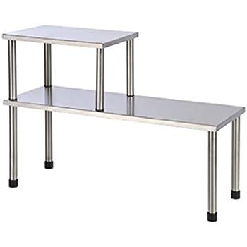 Étagère de cuisine en acier inoxydable 45x16 et 22x16 étagère d'évier