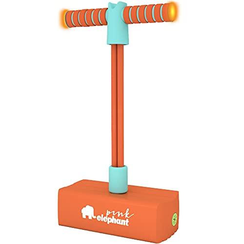 ALLCELE Pogo Stick for Kids with Light & Sound ,Foam Pogo Jumper for Boys & Girls - Best Gifts for Kids (Orange)